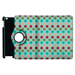 Large Circle Rainbow Dots Color Red Blue Pink Apple Ipad 2 Flip 360 Case by Alisyart