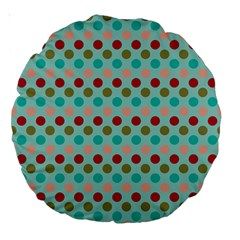 Large Circle Rainbow Dots Color Red Blue Pink Large 18  Premium Round Cushions by Alisyart