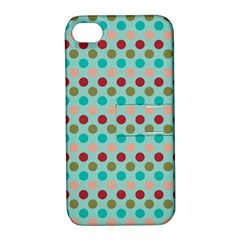 Large Circle Rainbow Dots Color Red Blue Pink Apple Iphone 4/4s Hardshell Case With Stand by Alisyart