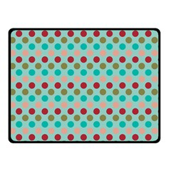 Large Circle Rainbow Dots Color Red Blue Pink Double Sided Fleece Blanket (small)  by Alisyart