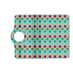 Large Circle Rainbow Dots Color Red Blue Pink Kindle Fire Hd (2013) Flip 360 Case by Alisyart