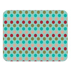 Large Circle Rainbow Dots Color Red Blue Pink Double Sided Flano Blanket (large)  by Alisyart