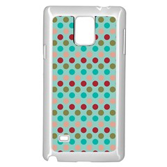 Large Circle Rainbow Dots Color Red Blue Pink Samsung Galaxy Note 4 Case (white) by Alisyart