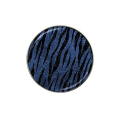 Skin3 Black Marble & Blue Stone (r) Hat Clip Ball Marker (10 Pack) by trendistuff