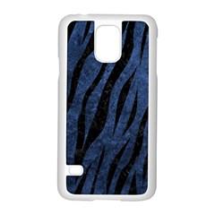 Skin3 Black Marble & Blue Stone (r) Samsung Galaxy S5 Case (white) by trendistuff