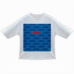 Fish Line Sea Beach Swim Red Blue Infant/Toddler T-Shirts by Alisyart