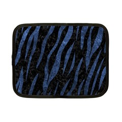 Skin3 Black Marble & Blue Stone Netbook Case (small) by trendistuff