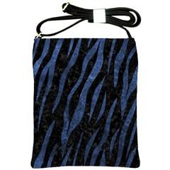 Skin3 Black Marble & Blue Stone Shoulder Sling Bag by trendistuff