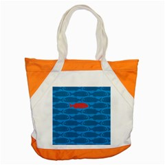 Fish Line Sea Beach Swim Red Blue Accent Tote Bag by Alisyart