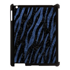Skin3 Black Marble & Blue Stone Apple Ipad 3/4 Case (black) by trendistuff