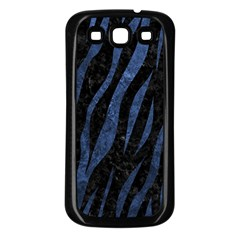 Skin3 Black Marble & Blue Stone Samsung Galaxy S3 Back Case (black) by trendistuff