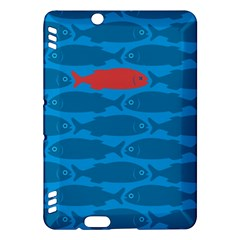 Fish Line Sea Beach Swim Red Blue Kindle Fire Hdx Hardshell Case by Alisyart