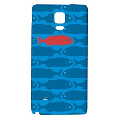 Fish Line Sea Beach Swim Red Blue Galaxy Note 4 Back Case by Alisyart