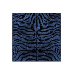 Skin2 Black Marble & Blue Stone (r) Satin Bandana Scarf by trendistuff