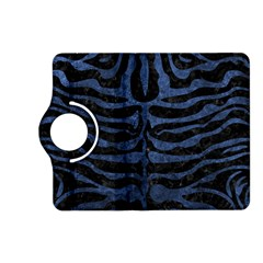 Skin2 Black Marble & Blue Stone Kindle Fire Hd (2013) Flip 360 Case by trendistuff