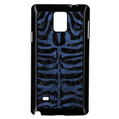 Skin2 Black Marble & Blue Stone Samsung Galaxy Note 4 Case (black) by trendistuff