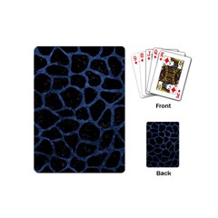 Skin1 Black Marble & Blue Stone (r) Playing Cards (mini) by trendistuff