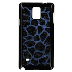Skin1 Black Marble & Blue Stone (r) Samsung Galaxy Note 4 Case (black) by trendistuff