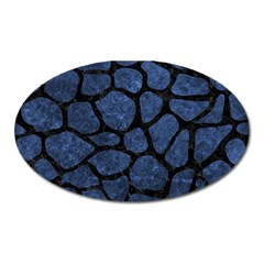 Skin1 Black Marble & Blue Stone Magnet (oval) by trendistuff