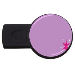 Purple Flagred White Star Usb Flash Drive Round (4 Gb) by Alisyart