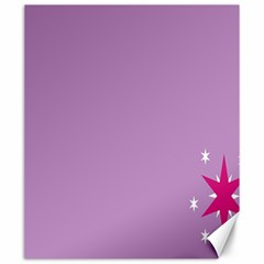 Purple Flagred White Star Canvas 20  X 24   by Alisyart