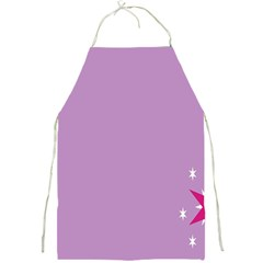 Purple Flagred White Star Full Print Aprons by Alisyart