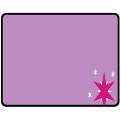 Purple Flagred White Star Fleece Blanket (medium)  by Alisyart