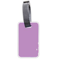 Purple Flagred White Star Luggage Tags (two Sides) by Alisyart