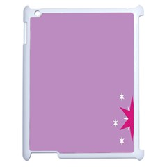 Purple Flagred White Star Apple Ipad 2 Case (white) by Alisyart