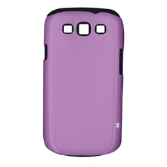 Purple Flagred White Star Samsung Galaxy S Iii Classic Hardshell Case (pc+silicone) by Alisyart