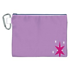 Purple Flagred White Star Canvas Cosmetic Bag (xxl) by Alisyart