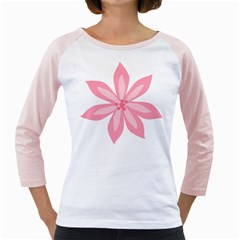 Pink Lily Flower Floral Girly Raglans by Alisyart