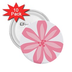 Pink Lily Flower Floral 2 25  Buttons (10 Pack)  by Alisyart