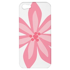 Pink Lily Flower Floral Apple Iphone 5 Hardshell Case by Alisyart