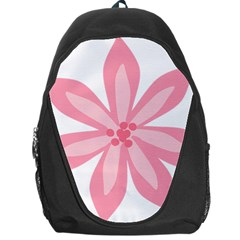 Pink Lily Flower Floral Backpack Bag by Alisyart