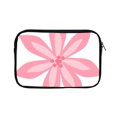 Pink Lily Flower Floral Apple Ipad Mini Zipper Cases by Alisyart