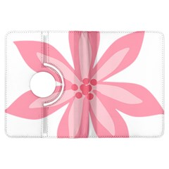 Pink Lily Flower Floral Kindle Fire Hdx Flip 360 Case by Alisyart