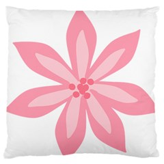 Pink Lily Flower Floral Standard Flano Cushion Case (one Side) by Alisyart