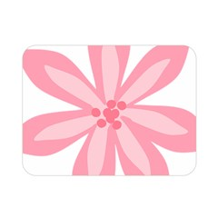 Pink Lily Flower Floral Double Sided Flano Blanket (mini)  by Alisyart