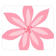 Pink Lily Flower Floral Double Sided Flano Blanket (small)  by Alisyart