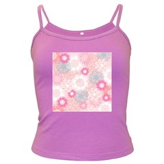 Flower Floral Sunflower Rose Pink Dark Spaghetti Tank by Alisyart