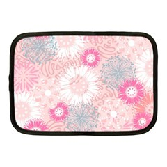 Flower Floral Sunflower Rose Pink Netbook Case (medium)  by Alisyart