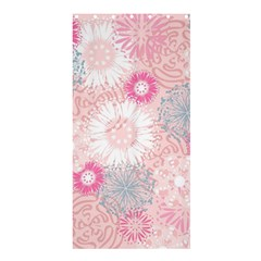 Flower Floral Sunflower Rose Pink Shower Curtain 36  X 72  (stall)  by Alisyart