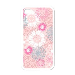 Flower Floral Sunflower Rose Pink Apple Iphone 4 Case (white) by Alisyart