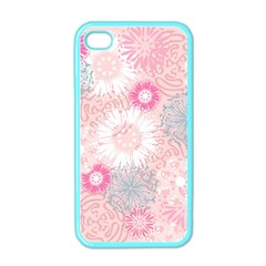 Flower Floral Sunflower Rose Pink Apple Iphone 4 Case (color) by Alisyart