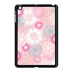 Flower Floral Sunflower Rose Pink Apple Ipad Mini Case (black) by Alisyart
