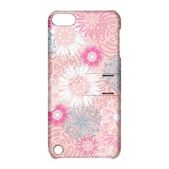 Flower Floral Sunflower Rose Pink Apple iPod Touch 5 Hardshell Case with Stand by Alisyart
