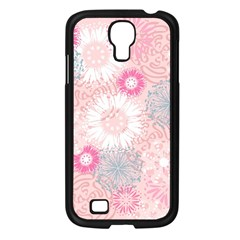 Flower Floral Sunflower Rose Pink Samsung Galaxy S4 I9500/ I9505 Case (black) by Alisyart