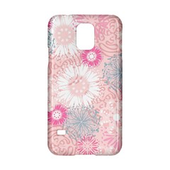 Flower Floral Sunflower Rose Pink Samsung Galaxy S5 Hardshell Case  by Alisyart