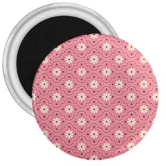 Pink Flower Floral 3  Magnets by Alisyart